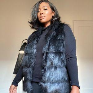 BCBG Generation faux fur vest
